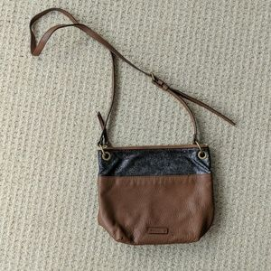 NWOT Fossil Keely Bucket Leather Sparkle Crossbody